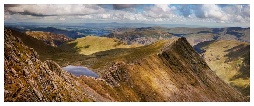 Striding Edge Panorama - Lake District Print