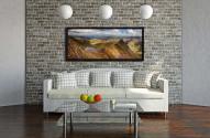 Striding Edge Panorama - Black oak floater frame with acrylic glazing on Wall