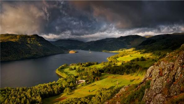 Ullswater Stormy Skies - Lake District Canvas