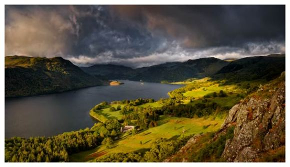 Ullswater Stormy Skies - Lake District Print