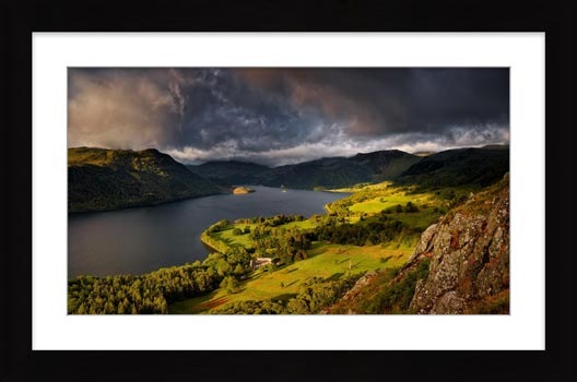 Ullswater Stormy Skies - Framed Print with Mount