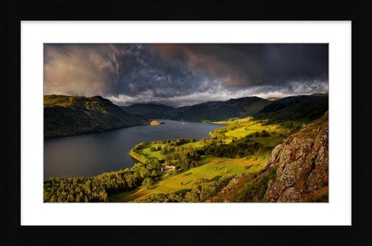 Ullswater Stormy Skies - Framed Print