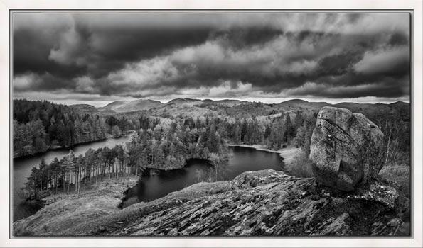 Grey Skies Over Tarn Hows - Lake District Modern Black White