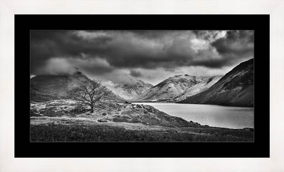 Winter Colours of Wast Water - Black White Framed Print