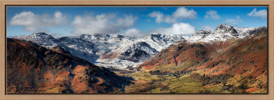 Great Langdale Valley in Winter - Modern Print