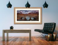 Glen Sligachan Bridge - Framed Print with Mount on Wall