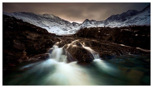 The Dark Fairy Pools - Isle of Skye Print