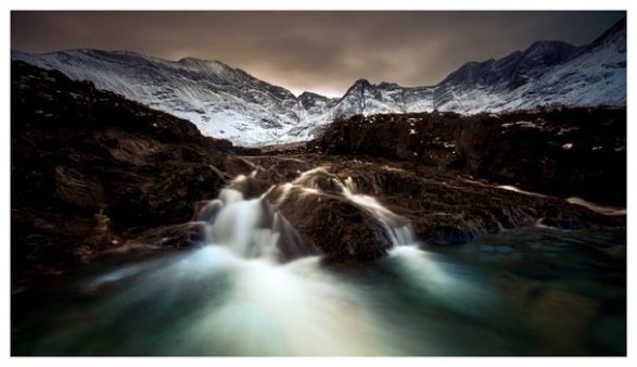 The Dark Fairy Pools - Isle of Skye Print