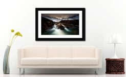 The Dark Fairy Pools - Framed Print with Mount on Wall