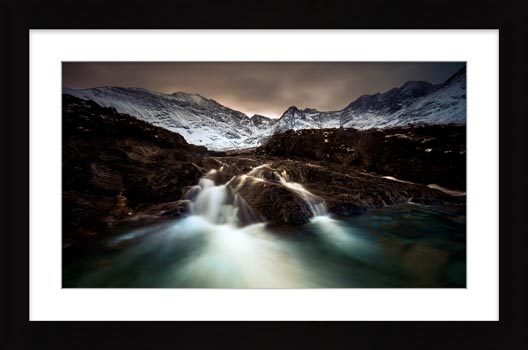 The Dark Fairy Pools - Framed Print with Mount
