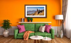 Old Man of Storr Panorama - Framed Print with Mount on Wall