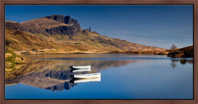 Peaceful Morning at Loch Fada - Modern Print