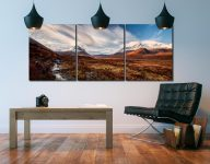 Glen Sligachan Isle of Skye - Print Aluminium Backing With Acrylic Glazing on Wall