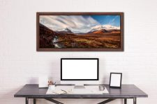 Glen Sligachan Isle of Skye - Walnut floater frame with acrylic glazing on Wall