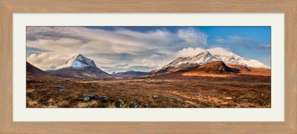 Cuillin Mountains from Glen Sligachan - Framed Print with Mount