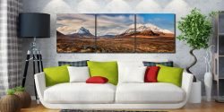 View of the snow capped Cuillin Mountains from Glen Sligachan on the Isle of Skye - Print Aluminium Backing With Acrylic Glazing on Wall