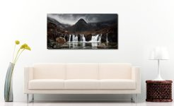 Fairy Pools Waterfall - Print Aluminium Backing With Acrylic Glazing on Wall