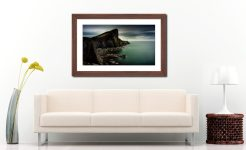 Neist Point Lighthouse Green - Framed Print with Mount on Wall