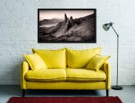 The Storr Isle of Skye - Black oak floater frame with acrylic glazing on Wall