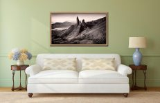 The Storr Isle of Skye - Oak floater frame with acrylic glazing on Wall