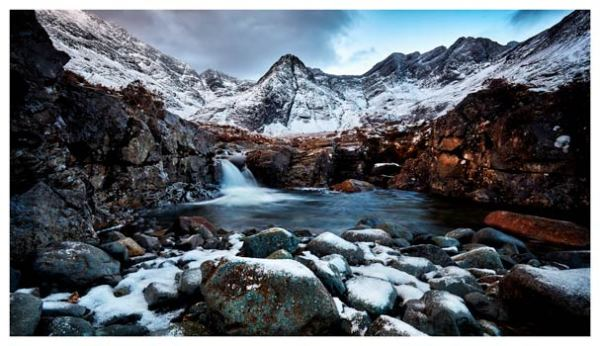 Spring Snow Fairy Pools - Isle of Skye Print