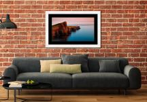 Calmness at Neist Point Lighthouse - Framed Print with Mount on Wall