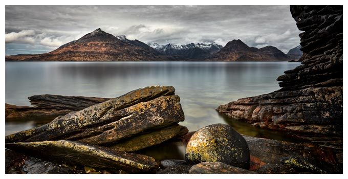 Cuillin Mountains From Elgol - Isle of Skye Print