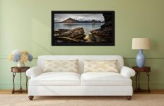 Cuillin Mountains From Elgol - Black oak floater frame with acrylic glazing on Wall