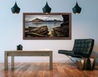 Cuillin Mountains From Elgol - Walnut floater frame with acrylic glazing on Wall