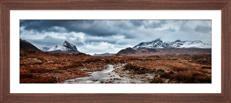 Glen Sligachan Panorama - Framed Print with Mount