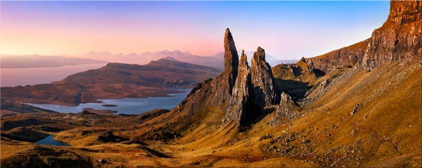 Old Man Storr Golden Light - Isle of Skye Canvas