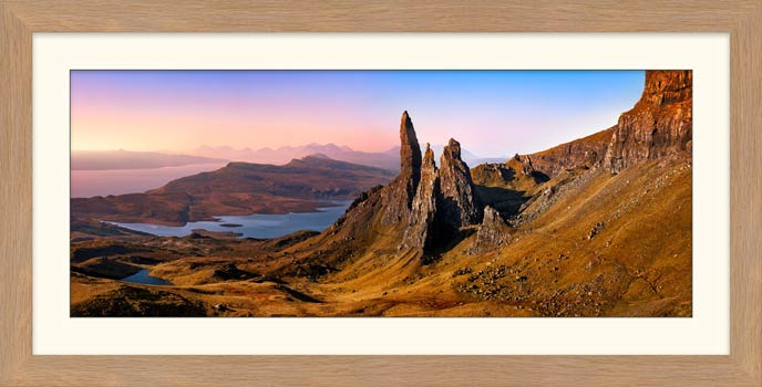 Old Man Storr Golden Light - Framed Print