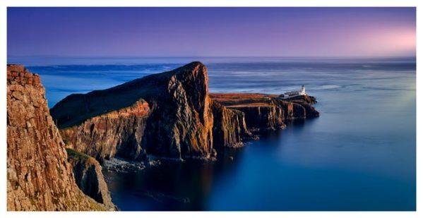 Golden Cliffs of Neist Point - Isle of Skye Print