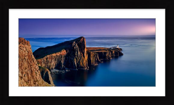 Golden Cliffs of Neist Point - Framed Print with Mount