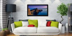 Golden Cliffs of Neist Point - Black oak floater frame with acrylic glazing on Wall