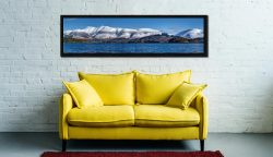 Skiddaw and Saddleback - Black oak floater frame with acrylic glazing on Wall