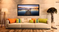 Ashness Jetty Dawn - Print Aluminium Backing With Acrylic Glazing on Wall