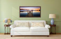 Ashness Jetty Dawn - Walnut floater frame with acrylic glazing on Wall