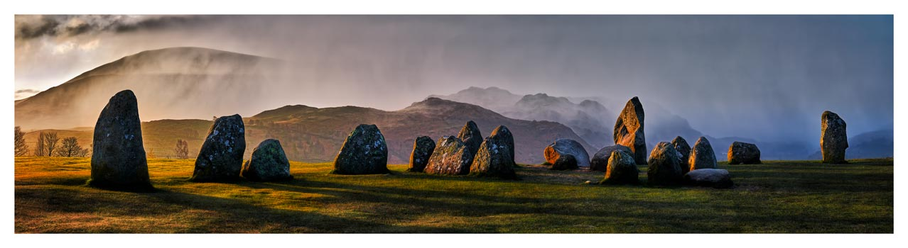 Sunlight and Showers at Castlerigg - Lake District Print