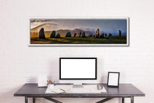 Sunlight and Showers at Castlerigg - White Maple floater frame with acrylic glazing on Wall