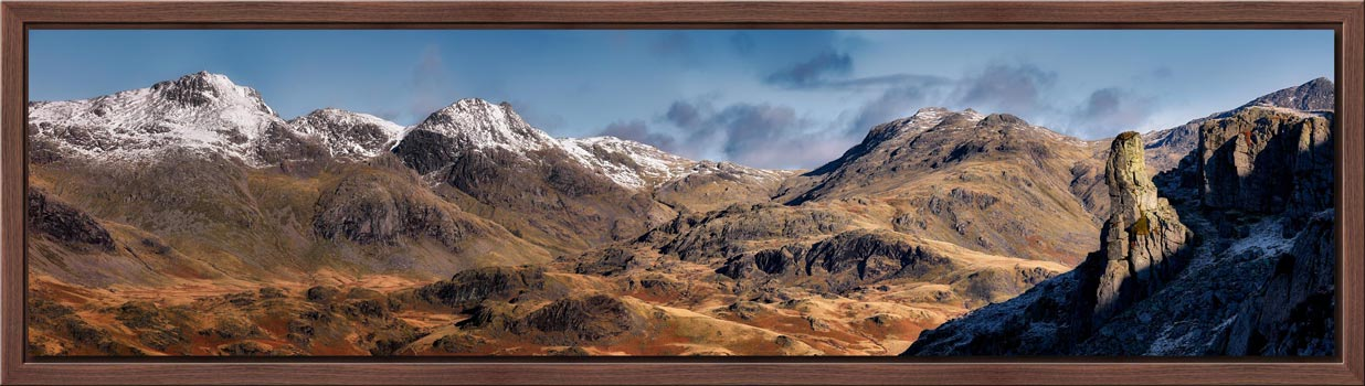 Eskdale Needle and Scafell Panorama - Modern Print