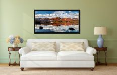 Cat Bells in Autumn - Black oak floater frame with acrylic glazing on Wall