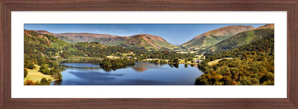 Grasmere Summer Panorama - Framed Print
