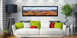 The Langdale Mountains - Black oak floater frame with acrylic glazing on Wall