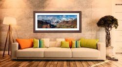 Great Langdale Valley in Winter - Framed Print with Mount on Wall