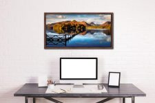 Derwent Water Gate - Walnut floater frame with acrylic glazing on Wall