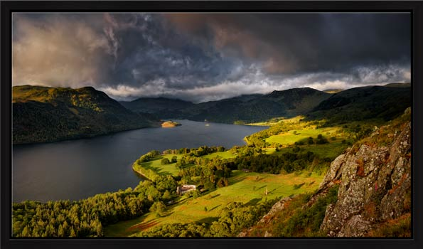 Ullswater Stormy Skies - Floating Frame