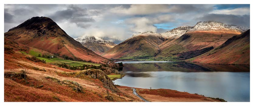 Snow on Mountains at Wast Water - Lake District Print