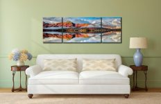 Cat Bells Autumn Mists - 3 Panel Wide Mid Canvas on Wall