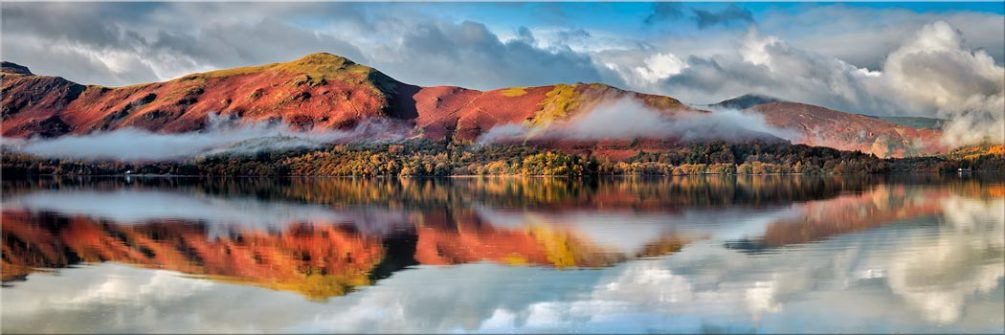 Cat Bells Autumn Mists - Canvas Print